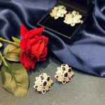 pear shaped floral earrings