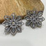 Grey Oriental Lily Earrings