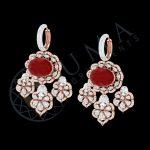GLAMOUROUS RED DIAMOND EARRINGS