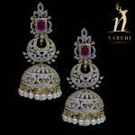 Diamond Jhumkas