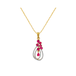 Red Stone Diamond Pendant