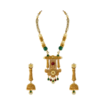 Gold Pendant and Earrings Set