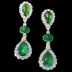 Emerald Earrings With Diamonds