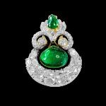 "Emerald ""taaveez"" Pendant with Diamonds"