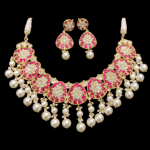 Polki Red Necklace