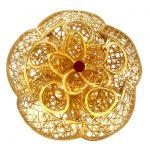 Elite Bloom Floral Cutout Floral Gold Ring