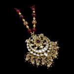Silver Kundan Pendant