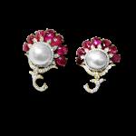 Ruby Uchiwa Fan Earrings