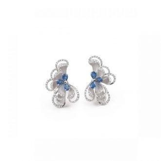 DESIGNER BLUE SAPPHIRE DIAMOND EARRING